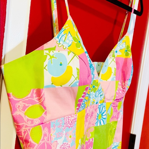 Lilly Pulitzer. Sundress: Pink, yellows & Greens